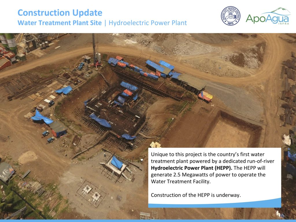 Apo Agua Construction Update (Hydroelectric Power Plant)